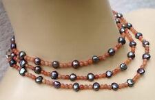 Unbehandelte Echtschmuck-Halsketten Perlen