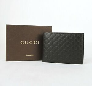 Gucci Men's Dark Brown Microguccissima Leather Bi-fold Wallet 278596 2044