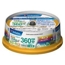20 BLANK VERBATIM BLU-RAY DISCS 50GB 4x Full HD Japan Sealed Box AUSSIE SELLER
