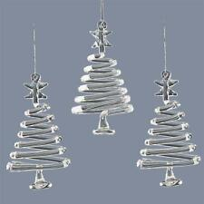 Christmas Tree Decoration 3 Pack Glass Twisted Trees