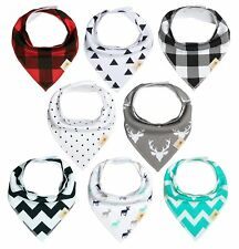 """Baby Bib bandna, 8-Pack Drool Bibs for Boys and Girls, unisex, """"Black and Red by"""