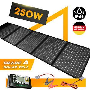 250W 12V Solar Mat Flexible Folding Solar Panel Blanket Generator Camping Power