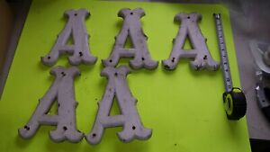 """Vintage Old Letters from Sign Wood old White Paint  """"A"""""""