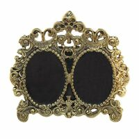 Paradise Photo Frame Antique Golden Double Picture Victorian Styl...