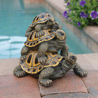 Garden Turtle Statue Statuary Lawn Yard Art Ornament Home Resin Decor Sculpture