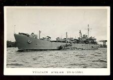 Navy France Shipping VULCAIN ATELIER 1951 RP PPC