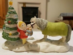 "Thelwell Ponies CHRISTMAS GIFT 6084 Figurine Ornament Limited Edition ""Rare"""