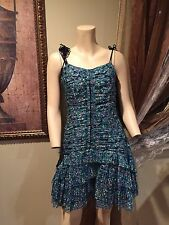 NEW Marc Jacobs Summer Spaghetti Strap Frock Dress Cotton 6 medium small