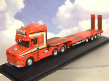 OXFORD 1/76 SCANIA T CAB & NOOTEBOOM 3-AXLE SEMI LOW LOADER SANDY KYDD 76TCAB008