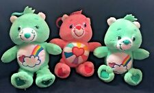 """Care Bears Soft Toys with Bag/Pram Clip ~ Approx 7"""" ~ VGC ~ Collectable"""