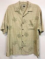 Vintage Tommy Bahama Button Up Hawaiian Shirt 100% Silk Beach Sz M Hard_8s_Magic