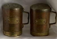 Vintage Copper and Brass Salt & Pepper Shakers Set Old Dutch International