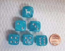 16mm - *6* CHX Custom Chihuahua - Cirrus Aqua w/Silver pips & Chihuahua as #1