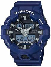 NEW Casio G-SHOCK GA700-2A Blue Super Illuminator Analog Digital Men's Watch