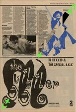Rhoda with The Special AKA The Boiler Advert NME Cutting 1982