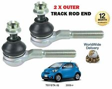 FOR TOYOTA iQ 1.0i 1.33 VVTi 2008-> NEW 2 X OUTER TIE TRACK ROD END SET
