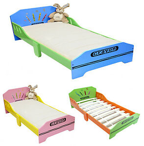 Kiddi Style Childrens Crayon Wooden Junior Bed NEW Kids Toddler Cot Bed Childs