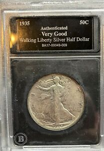 1935 P Walking Liberty Silver Half Dollar