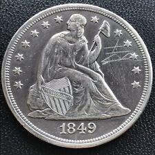 1849 Seated Liberty Dollar One Dollar $1 Rare  High Grade AU Details #16630