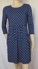 Jerseykleid Laura Ashley 36 blau weiß Punkte polka dots Sommer blau Urlaub