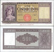 500 Lire Italia ornata di spighe 20/3/1947 Einaudi - Urbini