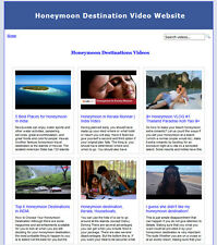 Honeymoon Destination Video Website Builder For Sale CREATE UNLIMITED WEBSITES