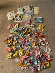 * LG Lot Vtg G-1 My Little Pony Ponies Baby Flutter Molly Megan Cardbacks Extras