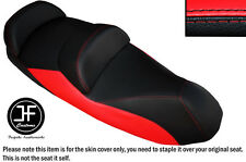 BLACK AND RED VINYL CUSTOM FITS 14-15 PIAGGIO MP3 LT 500 SPORT SEAT COVER ONLY