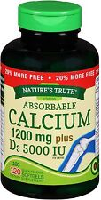 Nature's Truth Calcium 1200mg + D3 5000 IU Softgels 120 ea