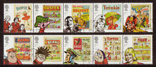 GREAT BRITAIN 2012 COMICS SET OF 10 IN STRIPS OF 5 FINE USED