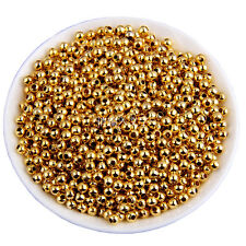 1000pcs Gold/Silver Plated Round Ball Beads Spacer 3mm(1.5mm)