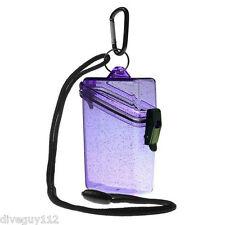 Witz Dry Box Keep it Safe Locker ID Scuba Gear Bag NEW Glitter Box 2 Purple