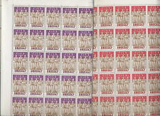 URUGUAY 1961 C.I.E.S. 2v.MINT SHEETS..100 stamps