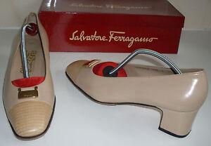 FERRAGAMO Designer Ballet Pump Court Shoes US 8 - 9 UK 5.5 - 6.5 EU 38.5-39.5