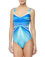 NWT GOTTEX by GOTTEX Seraphine BLUE Swimsuit BATHING SUIT 1pc sz- 6