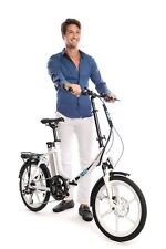 Ness Icon White Electric Folding Bicycle