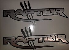 RAPTOR FORD TRUCK  VINYL DECALS STICKERS CHROMO BRUSHED (SET)