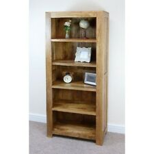 Mantis Light Natural Solid Mango Tall Large Bookcase by Mercers Furniture