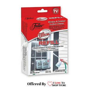 FULL CRYSTAL Window Cleaner REFILL Fuller Brush As Seen On TV - BUY MORE & SAVE