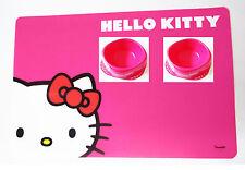 Hello Kitty Small Pet Puppy Kitten Mat & Pink Fuchsia Water Food Bowls Lot of 3