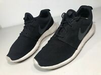Nike Rosche One Mesh Black White Running Shoes 511881-010 Men's Size 10