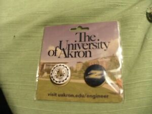 2#H   New in Retail Package The University Of Akron Buttons 2 count
