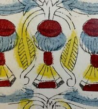 c1780 Nine of Cups Painted Antique Tarot Marseille Playing Cards Rare Single+COA