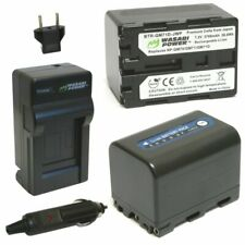 Wasabi Power Battery (2-Pack) and Charger for Sony NP-QM71D