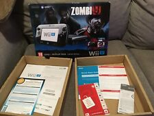 Nintendo Wii U Black Zombi-U Console REPLACEMENT BOX ONLY PREMIUM PACK LIMITED