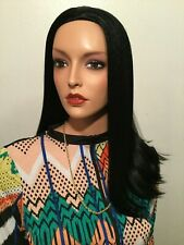 NWT Vanessa Jet Black Fashion Comb Wig Premium High Heat Fiber Blend