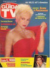 rivista NUOVA GUIDA TV ANNO 1990 NUMERO 47 CARMEN RUSSO