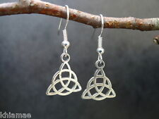 Triquetra Earrings silver plated wiccan pagan goddess celtic knot jewellery