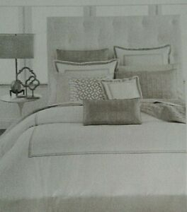 HOTEL COLLECTION EMBROIDERED FRAME FULL/QUEEN DUVET CHAMPAGNE