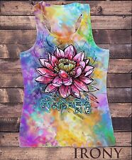 SUB837 Womens Vest Top, Beautiful Lotus Tropical Floral Zen Ethical Print